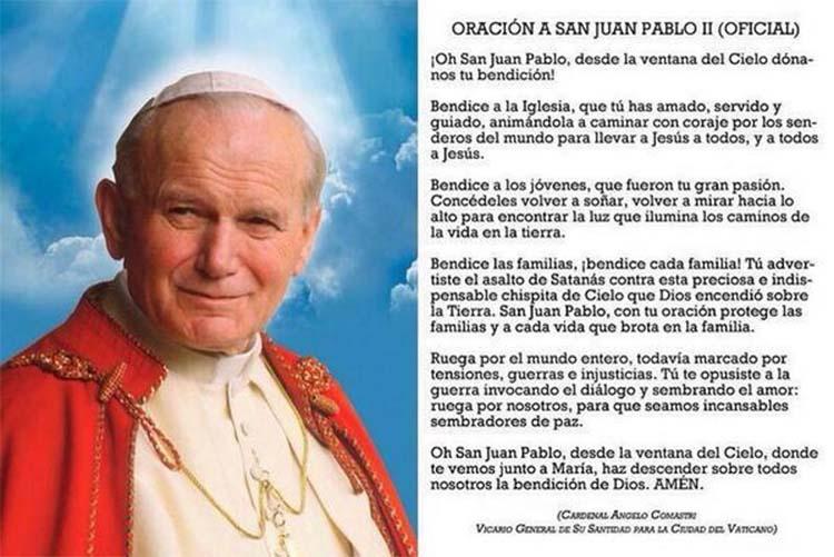San Juan Pablo II Oracion oficial
